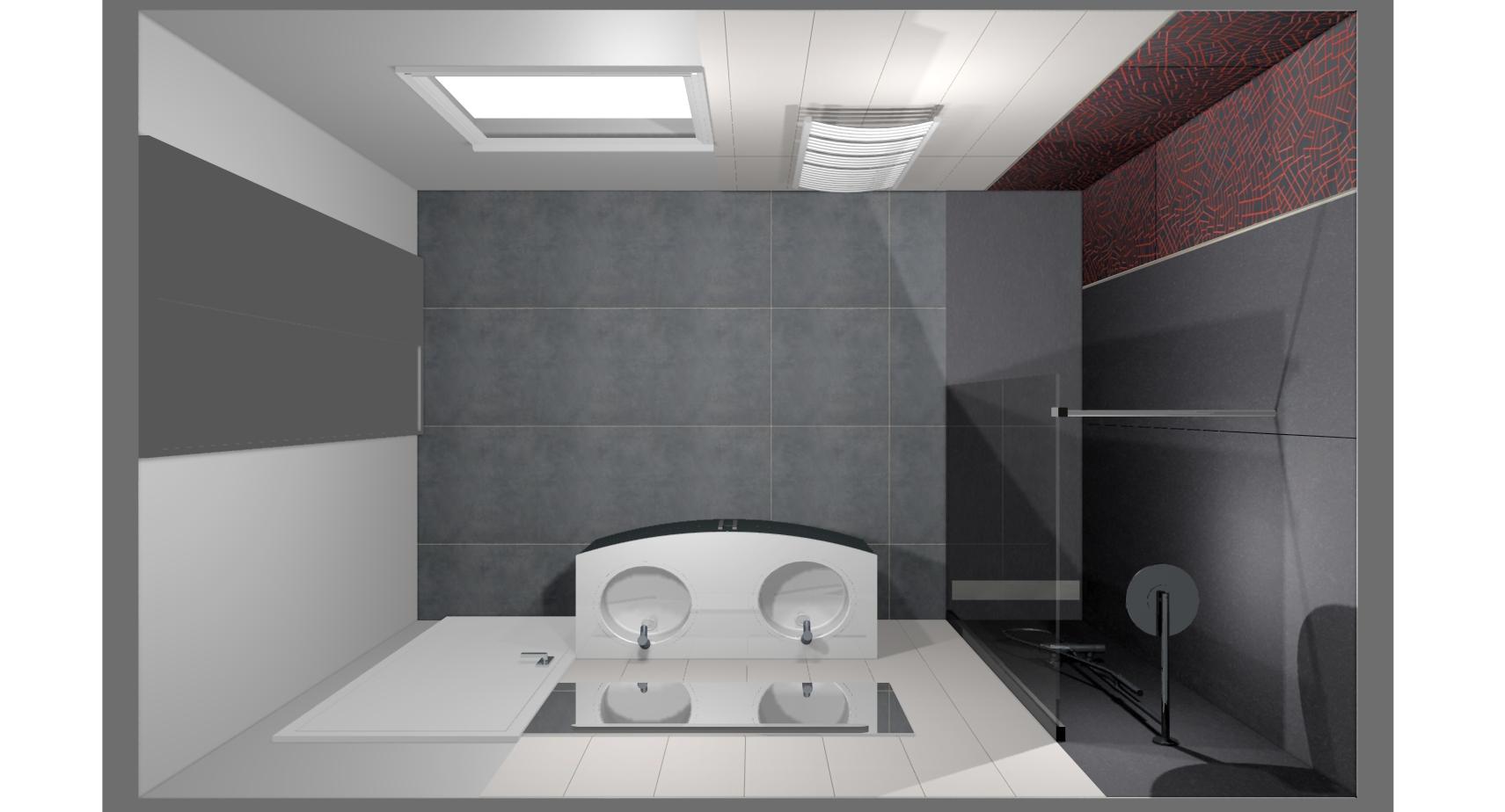 R novation compl te de salle de bain avec id 39 douch id for Plan de salle de bain 3d